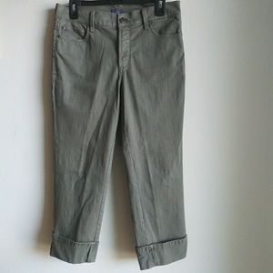 NYDJ olive green crop capris pants